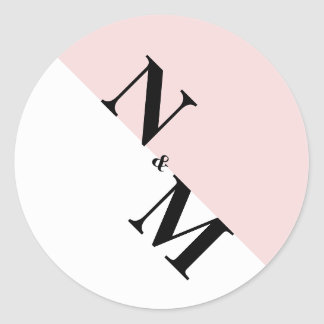 Modern Initial Stickers