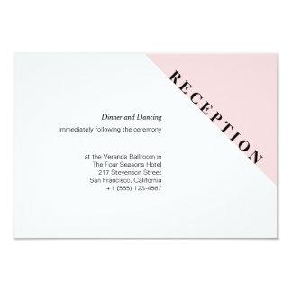 Modern Initial Wedding Reception Card 9 Cm X 13 Cm Invitation Card