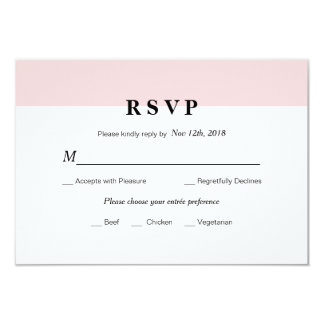 Modern Initial Wedding RSVP Card