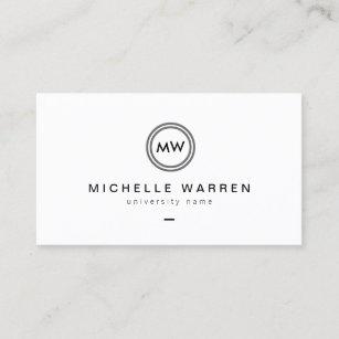 Graduate student business cards zazzle au modern initials i graduate student business card colourmoves