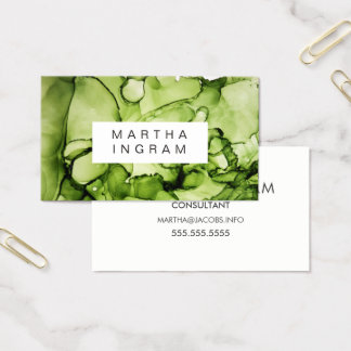 Modern Ink Layers Abstract Design Business Card