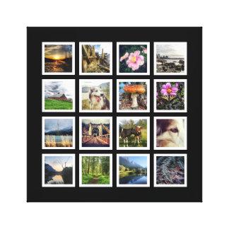 Modern Instagram Photo Art Collage 16 Pics Canvas Prints