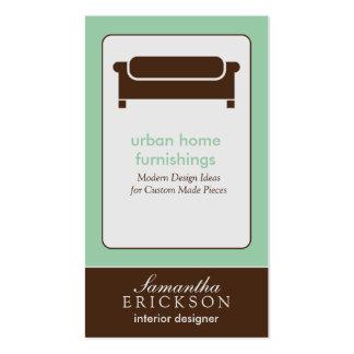 Modern Interior Design/Decorator Business Card: 5 Pack Of Standard Business Cards