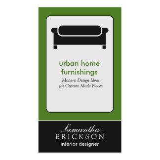 Modern Interior Design/Decorator Business Card: 7