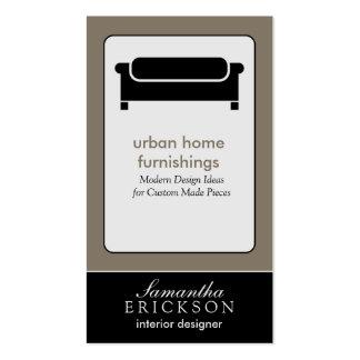 Modern Interior Design/Decorator Business Card: 9