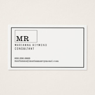 modern introduction contact-card custom consultant business card