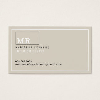 modern introduction contact-card, interior design business card