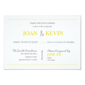 Modern Invitation Suite Brunch Card