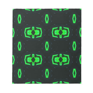 Modern Irish Green Geometric Pattern Notepads
