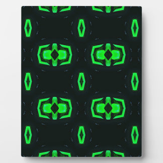Modern Irish Green Geometric Pattern Plaque