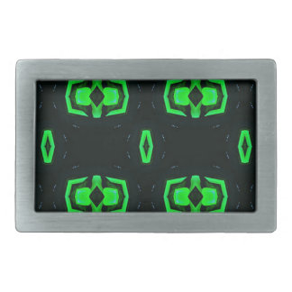 Modern Irish Green Geometric Pattern Rectangular Belt Buckles