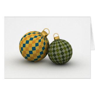 Modern Italian Christmas Ornaments Card
