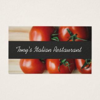 Modern Italian Restaurant Business Card