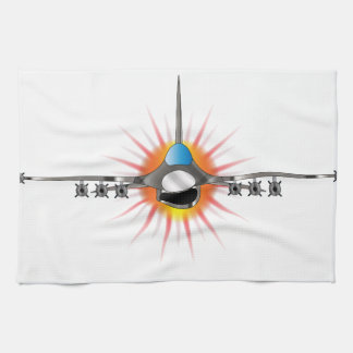 Modern Jet Fighter Kitchen Towels