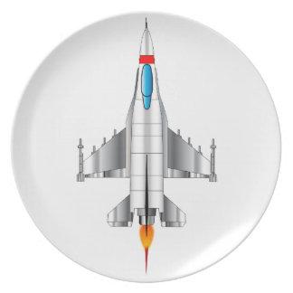 Modern Jet Fighter Plane Plate