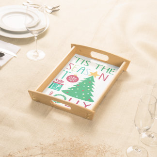 Modern Jolly Christmas Serving Tray
