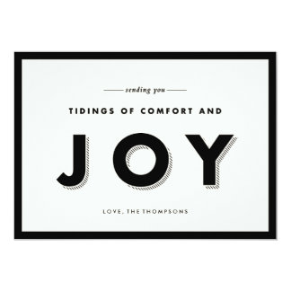 Modern Joy Holiday Greeting 5x7 Paper Invitation Card