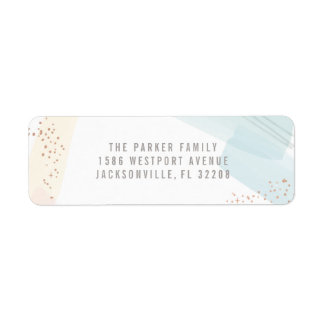 Modern Joy Return Address Label