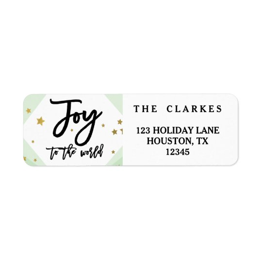 Modern Joy to the World Holiday Address Label