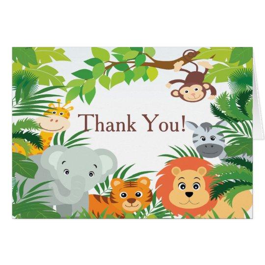 Modern Jungle Safari Baby Shower Thank You