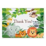 Modern Jungle Safari Baby Shower Thank You Note Card