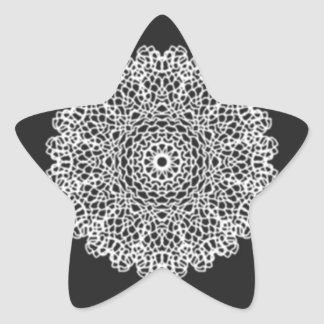 Modern Kaleidoscope pattern Star Sticker
