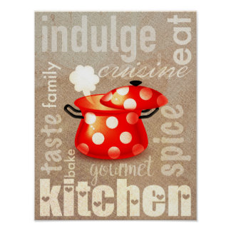 Modern kitchen sign quote poster