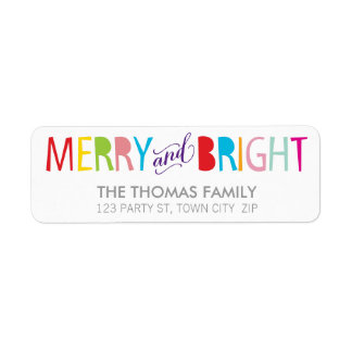 MODERN LABEL merry & bright bold fun colorful