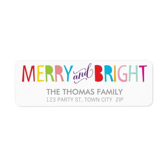MODERN LABEL merry & bright bold fun colourful