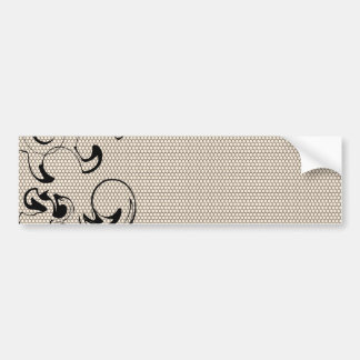 Modern Lace Abstract Bumper Sticker