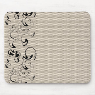Modern Lace Abstract Mouse Pad