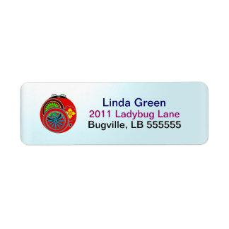 Modern Ladybug Labels