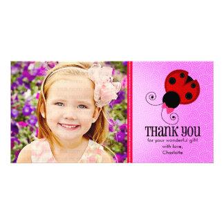 Modern Ladybug Personalized Thank You Card