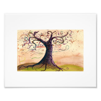Modern Landscape of Tree with swirling branches Photo Art
