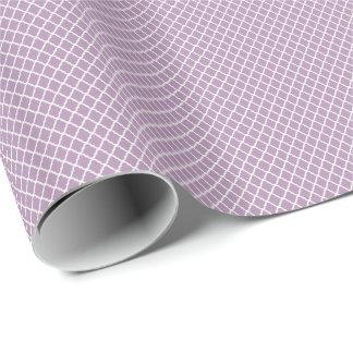 Modern Lavender Purple Moroccan Quatrefoil Pattern Wrapping Paper