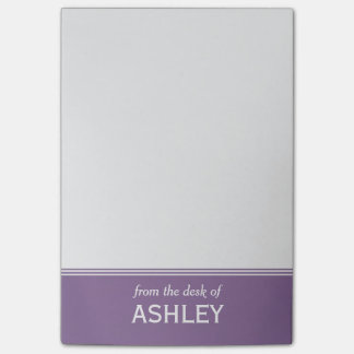 """Modern Lavender Purple Personalized 4"""" x 6"""" Post-it Notes"""