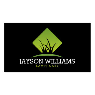 Modern Lawn Care/Landscaping Grass Logo II Pack Of Standard Business Cards