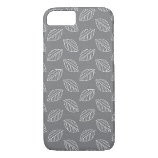 Modern Leaf in Gray iPhone 7 Case