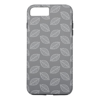 Modern Leaf in Gray iPhone 7 Plus Case