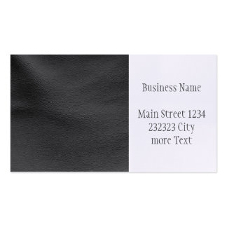 Modern leather structure pack of standard business cards