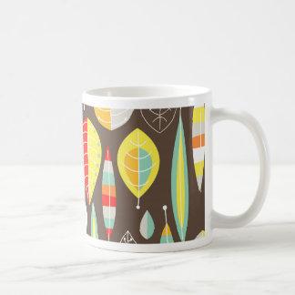 Modern Leaves Basic White Mug