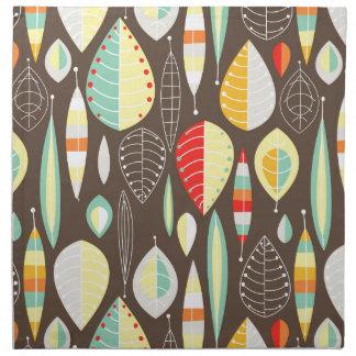 Modern Leaves Printed Napkin