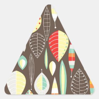 Modern Leaves Triangle Sticker