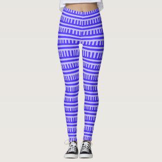 Modern leggings design with Blue Element