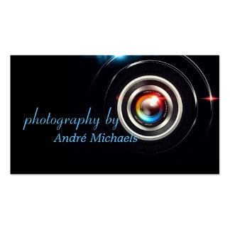 Modern Lens Photographer Photography Business Card Templates