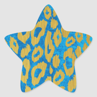 Modern Leopard Pattern Star Sticker