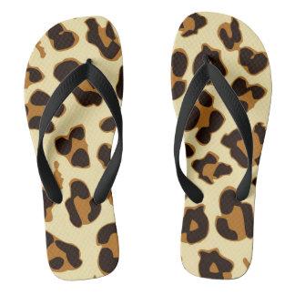 Modern Leopard Skin Print Pattern Flip Flop