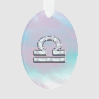 Modern Libra Zodiac Sign Mother of Pearl Style