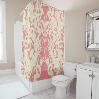 Modern-Life(c) Salmon & Cream-Everyday_ Shower Curtain