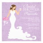 Modern Lilac Purple Bride Wine Bridal Shower
